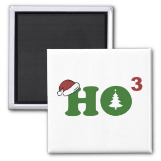 Ho Cubed Merry Christmas Magnet