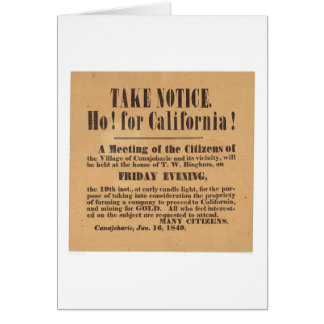Ho! for California! 1849 (1759A) Greeting Card