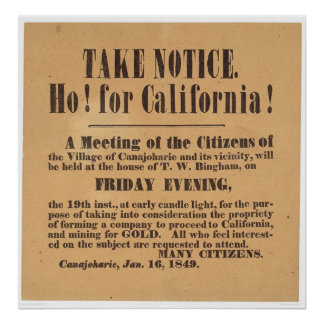 Ho! for California! 1849 (1759A) Poster