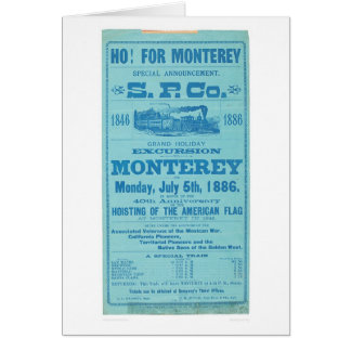 Ho for Monterey So. Pacific Advertisement (1652A) Greeting Card