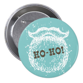 Ho-Ho Christmas Holiday Santa Noel 7.5 Cm Round Badge