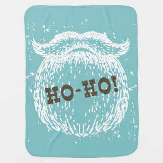 Ho-Ho Christmas Holiday Santa Noel Baby Blanket