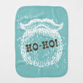Ho-Ho Christmas Holiday Santa Noel Burp Cloth