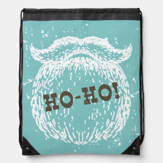 Ho-Ho Christmas Holiday Santa Noel Drawstring Bag