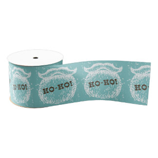 Ho-Ho Christmas Holiday Santa Noel Grosgrain Ribbon