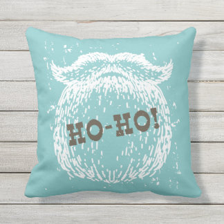 Ho-Ho Christmas Holiday Santa Noel Outdoor Cushion