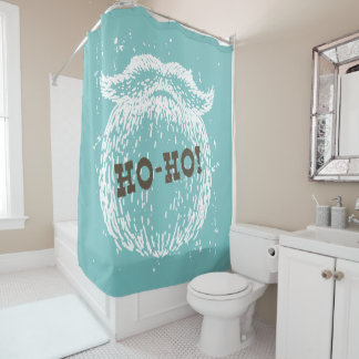 Ho-Ho Christmas Holiday Santa Noel Shower Curtain