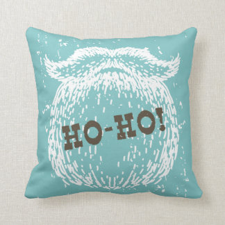 Ho-Ho Christmas Holiday Santa Noel Throw Pillow