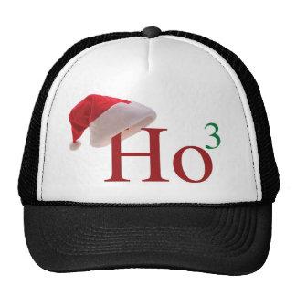 Ho Ho Ho 3 Merry Christmas to the 3rd power Mesh Hats