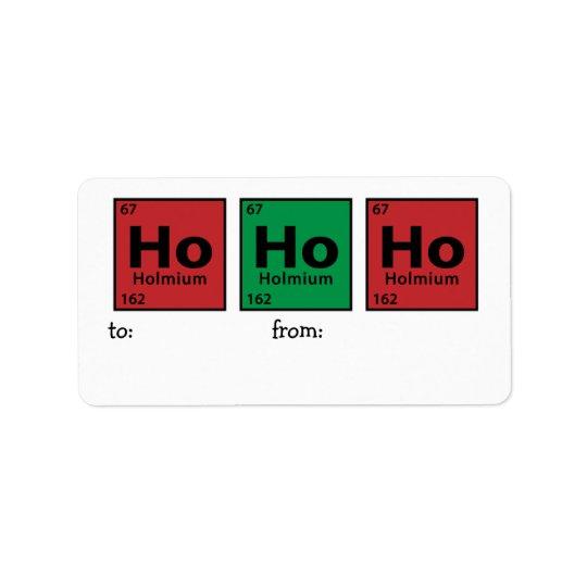 Ho Ho Ho Address Label
