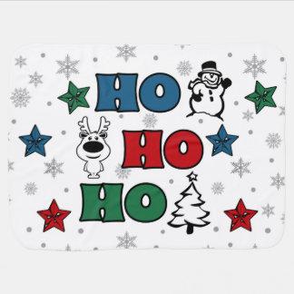 Ho-Ho-Ho Christmas design Baby Blanket