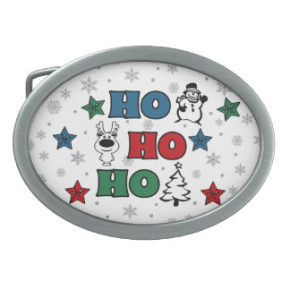 Ho-Ho-Ho Christmas design Belt Buckle