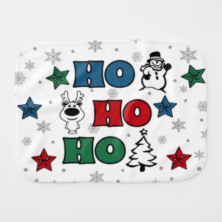 Ho-Ho-Ho Christmas design Burp Cloth
