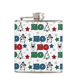 Ho-Ho-Ho Christmas design Hip Flask