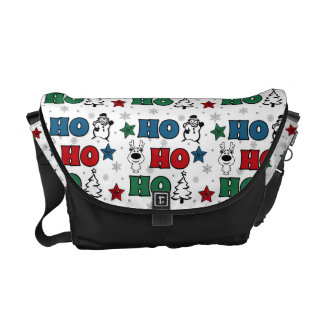 Ho-Ho-Ho Christmas design Messenger Bags