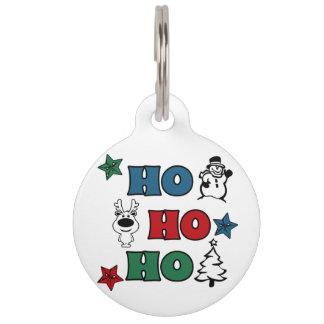 Ho-Ho-Ho Christmas design Pet Name Tag
