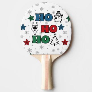 Ho-Ho-Ho Christmas design Ping Pong Paddle