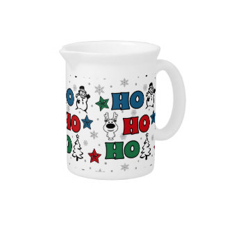 Ho-Ho-Ho Christmas design Pitcher