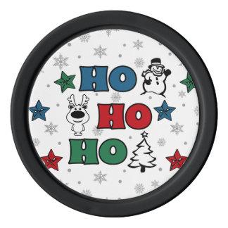 Ho-Ho-Ho Christmas design Poker Chips