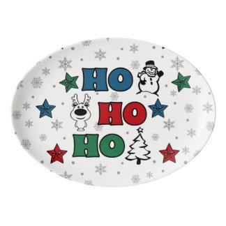 Ho-Ho-Ho Christmas design Porcelain Serving Platter