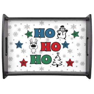 Ho-Ho-Ho Christmas design Serving Tray