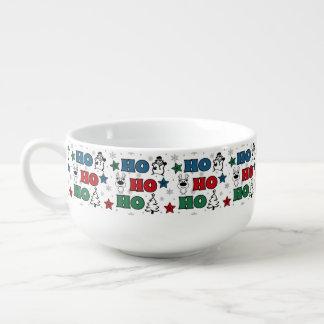 Ho-Ho-Ho Christmas design Soup Mug