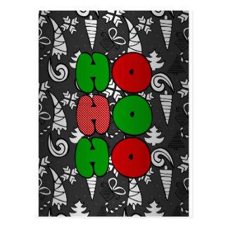 """""""Ho-ho-ho"""" christmas doodles illustration Postcard"""
