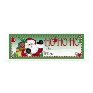 Ho Ho Ho Christmas Gift Tag Card Business Card