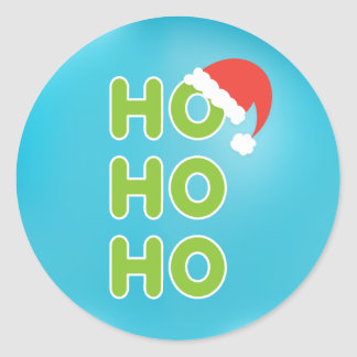 Ho Ho Ho Christmas Sticker Typography Sticker