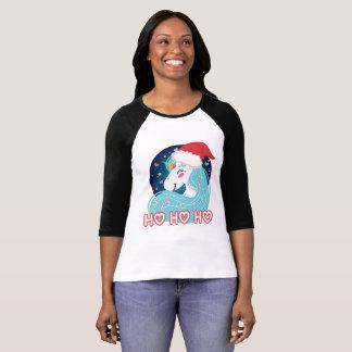 Ho Ho Ho Christmas Unicorn T-Shirt