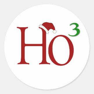 Ho Ho Ho Classic Round Sticker