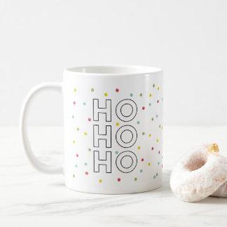 Ho Ho Ho Colorful Confetti Dots Holiday Mug
