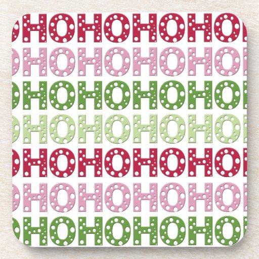 Ho Ho Ho Beverage Coasters