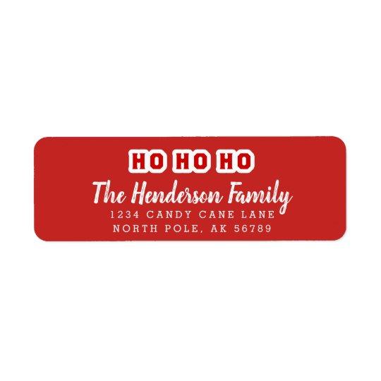 HO HO HO Custom Address Return Address Label