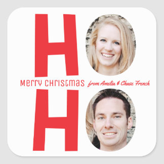 Ho Ho Ho Family Photo Christmas Sticker