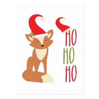 Ho Ho Ho Fox Postcard