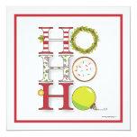 Ho HO HO Happy Holiday Christmas Party 5.25x5.25 Square Paper Invitation Card