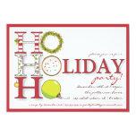 HO HO HO Happy Holiday Christmas Party 13 Cm X 18 Cm Invitation Card