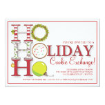 HO HO HO Holiday Cookie Exchange Party 13 Cm X 18 Cm Invitation Card