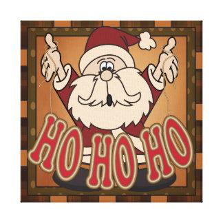 Ho Ho Ho Holiday Santa Claus Canvas