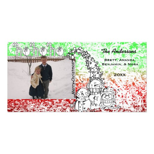 Ho Ho Ho Holidays Photo Card