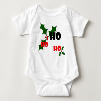 Ho Ho Ho Holly & Berries Baby Bodysuit