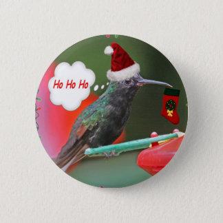 Ho Ho Ho Hummingbird 6 Cm Round Badge