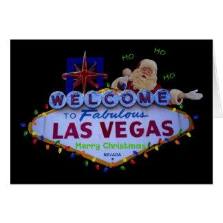 HO HO HO Las Vegas Merry Christmas SANTA Card
