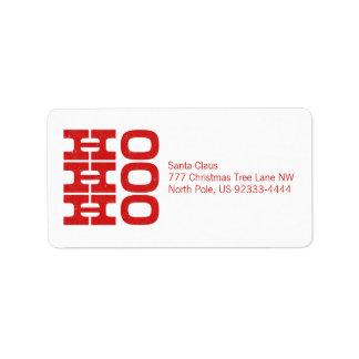 Ho Ho Ho (letterpress style) Address Label