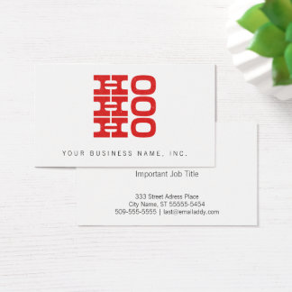 Ho Ho Ho (letterpress style) Business Card
