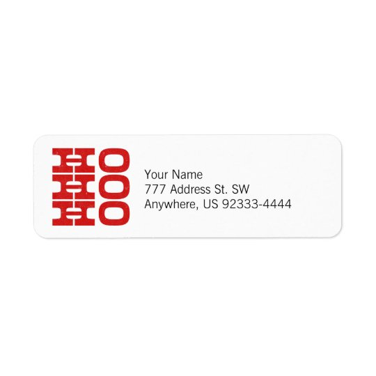 Ho Ho Ho (letterpress style) Return Address Label