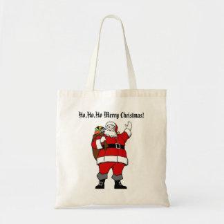 Ho,Ho,Ho Merry Christmas!-Christmas Budget Tote Bags