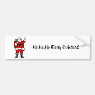 Ho,Ho,Ho Merry Christmas!-Christmas Bumper Sticker