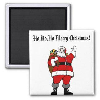 Ho,Ho,Ho Merry Christmas! - Christmas Magnet 2 Inch Square Magnet